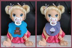 Minha fofura ganhou a Baby Alive  de aniversário e é costume das meninas fazerem o enxoval da boneca. Já tive que ir à feirinha de artesana...
