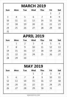 145 Best Free March 2019 Calendar Printable Templates Images
