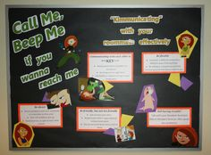 Kim Possible themed communication board.