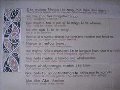 The Lord's prayer in Maori and its translation. Took this at a church in Christchurch. Maori Songs, Maori Symbols, Matou, Maori Art, God Prayer, Self Improvement Tips, Math Worksheets, Teacher Resources, Cool Words