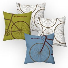 Checkerboard Personalized Cycle Throw Pillow & Reviews | Wayfair