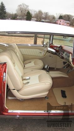 Custom car upholstery, hotrod upholstery, leather interior, hot rod interior, custom interior