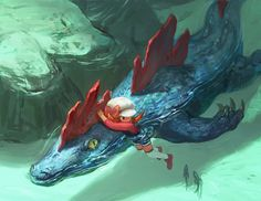 Swimming With Fraligator Terrifying But Only To The Enemies Pokemon Fan Art