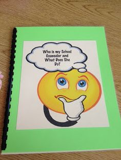 School Counseling Book to introduce yourself and role as the school counselor
