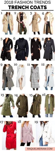 2018 Spring Fashion Trend: Trench Coats #spring #summer #trenchcoat #outfit #classic