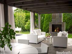 Sleek outdoor room. Design: Vicente Wolf. housebeautiful.com. #outdoor_room #patio