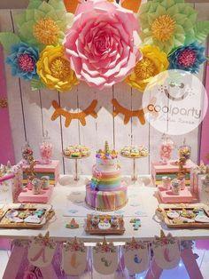 Unicorn / Unicornio Birthday Party Ideas   Photo 1 of 21