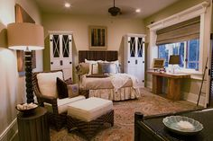 cream and khaki and brown bedroom is so tranquil
