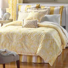 Yellow bedding!