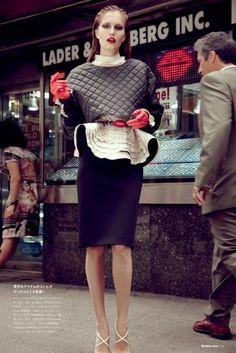 Alla Kostromicheva by Carlotta Manaigofor Numéro Tokyo December 2012