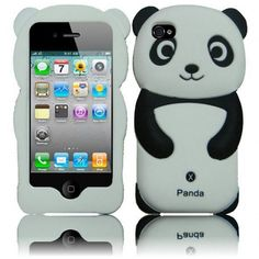 Choose a Apple #iPhone 4 iPhone #4S #Silicone Cover Case - Black Panda with Free Shipping in The US ONLY $12.99 from #Acetag