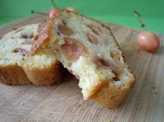 Cake pistache et cerise, sans beurre