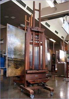 The Story of Ophelia – Look Closer Art Studio Design, Art Studio At Home, Art Studio Organization, Atelier D Art, Gear Art, Art Easel, Wooden Easel, Dream Studio, Painting Studio