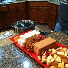 Chocolate Fondue on Valentines Day for my boyfriend and I.