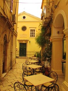 Corfu Town...visit whilst sailing in the North Ionian