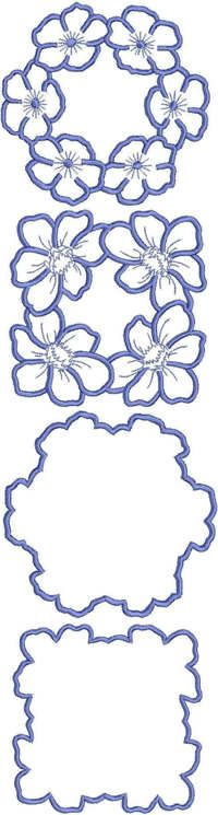Advanced Embroidery Designs - Flower Doily Set