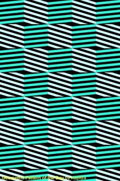 Abstract geometric lines green mint aqua