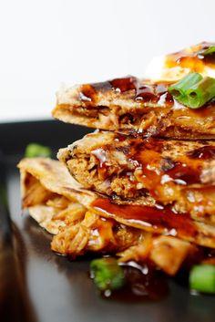 Slow Cooker Honey Garlic Chicken Quesadillas 6 | Bluegrass Bites .com