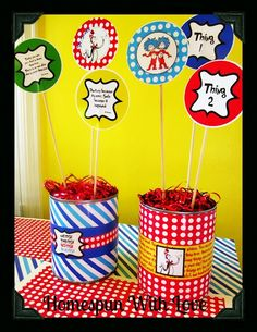 Homespun With Love: How To Make Budget Friendly Cat In The Hat Party Decor