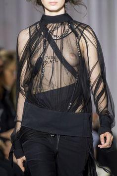 Ann Demeulemeester Spring 2017 - white lingerie outfit, lingerie xxx, sluttly lingerie *ad