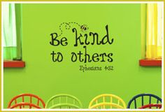 Be Kind to Each Other Ephesians Bible Verse wall decal
