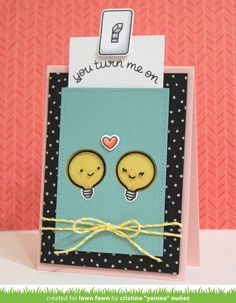 Lawn Fawn Intro: Turn Me On and Stitched 4 Bar Rectangle Stackables Dies - Lawn Fawn Love Cards, Diy Cards, Tarjetas Diy, Lawn Fawn Blog, Little Presents, Card Drawing, Cards For Friends, Valentine Day Cards, Creative Cards