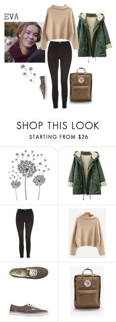 """Eva"" by aestheticarithmetic ❤ liked on Polyvore featuring jcp, Topshop, Vans, Fjällräven, EVA and skam"