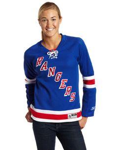NHL New York Rangers Women's Jersey - $99.95 - http://shop.sportsfanplayground.com/4738-374377011-B004YGPX58-NHL_New_York_Rangers_Womens_Blue_NHL_Premier_Jersey.html