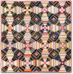 Pineapple Log Cabin Quilt - foundation piecing scrap quilt free pattern from Fons and Porter's Love of Quilting ~ Make this great traditional quilt with a great free pattern! The possibilities are endless with thousands of fabrics to choose from at the Fabric Shack at http://www.fabricshack.com/cgi-bin/Store/store.cgi