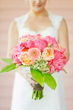 A bouquet bursting with pretty #peonies #gardenroses #hydrangea Photography By / http://aprylann.com,Event Planning By / http://southerngracescatering.com