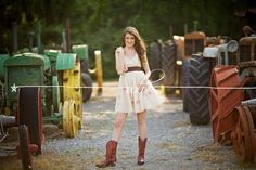 Your senior pictures probably looked like this.   26 Signs You Grew Up On A Farm