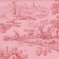 Pierre Deux Pink Wallpaper Pattern Number DPX22902W Matin Et Soir MatinEtSoir