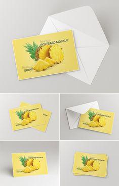 Postcard / Invitation Card Mockup PSD psd mockups, product mockups, presentation mockups, mockup templates