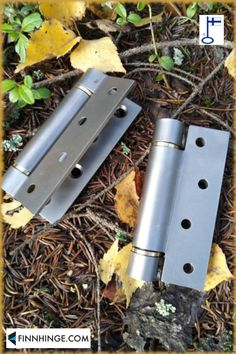 Rolled self-closing spring hinge; outer parts stainless steel, inner parts steel. Bearings brass or stainless steel - customer's choice. Other colour options: black or white paint. Size 100 x 75 mm. Made in Finland. Find out more in our webshop! Types Of Hinges, Gate Hinges, White Paints, Finland, Gates, Industrial, Hardware, Brass