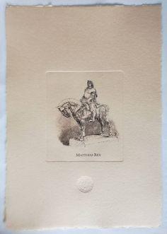Vintage Prints, Vintage Art, Matthias Corvinus, Sand Crafts, Travel Souvenirs, Paper Dimensions, Coat Of Arms, Emboss, Printmaking