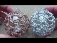 Crochet Christmas Decorations, Christmas Crochet Patterns, Free Pattern, Christmas Bulbs, Holiday Decor, Youtube, Balls, Christmas Ornaments, Amigurumi