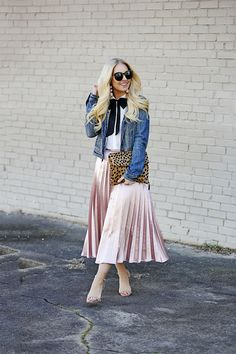 Pleated Midi Skirt - Cort In Session