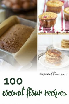 Coconut flour recipes for everything including breads, muffins, cookies, cakes, biscuits and more, plus the benefits of coconut flour. These Paleo recipes are gluten-free, grain-free, refined sugar free, and dairy free to reduce inflammation and improve wellbeing. #coconutflour #healthy #glutenfree #paleodiet #paleorecipe #paleosnack #paleodessert #paleobreakfast