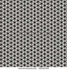 Illustration of seamless black-and-white geometric pattern. Raster version
