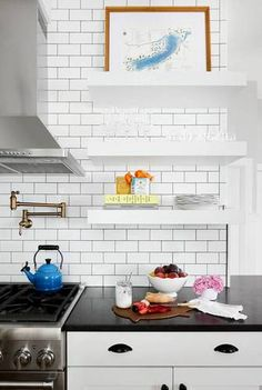 Silver and White Kitchen
