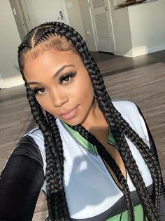 Feed In Braids Hairstyles, Black Girl Braided Hairstyles, Frontal Hairstyles, Baddie Hairstyles, Bridal Hairstyles, Latina Hairstyles, 2 Feed In Braids, Natural Braided Hairstyles, Office Hairstyles
