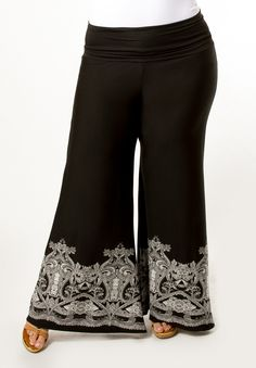 Women's Plus Size Pants | Gwen Palazzo Pants | SWAK Designs