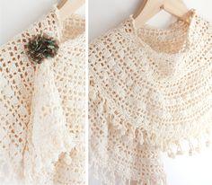 Shawl & pattern - Prachtsjaal met patroon + uitleg van LitteZhandmade