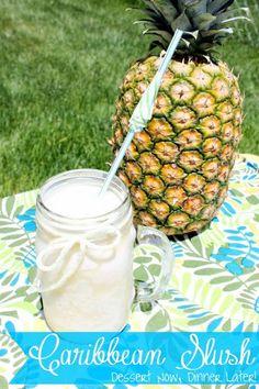 Caribbean Slush | DessertNowDinnerLater.com #drinks #nonalcoholic #mocktail
