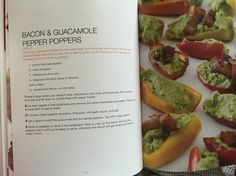 Guacamole pepper poppers from Primal Cravings by Megan and Brandon Keatley