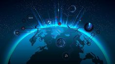 Futuristic 3D space Prezi template with animated radar – ziloadcom