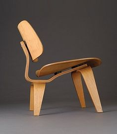 Charles and Ray Eames, 'LCW (Lounge Chair Wood),' c. 1945, molded birch plywood by International Arts & Artists ::: TIMELESS