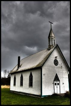 Old Church, Angry Sky.............  But you have too lov the Picture.. Rare!