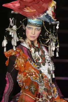Fascinating, it takes my breath away. John Galliano at Paris Fashion Week Fall 2004 - StyleBistro