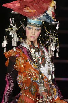 John Galliano at Paris Fashion Week Fall 2004 - StyleBistro